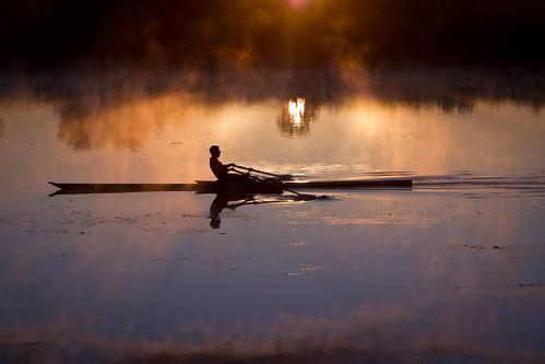 reflection water fog sunrise washington kayak columbiariver richland tricities