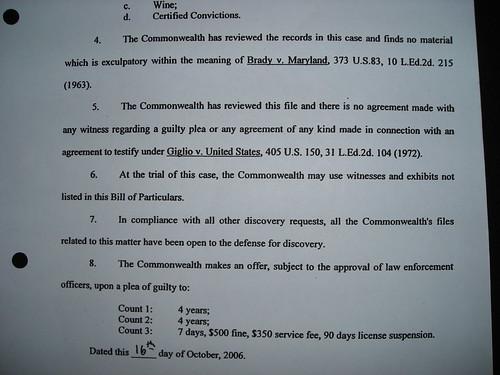 False statement on sworn Bill of Particulars