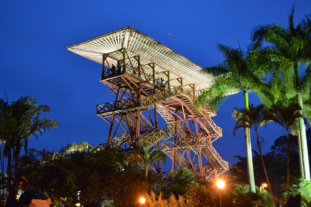Mirador en el Parque del Café y su reconocido Mirador - Los 10 mejores lugares turísticos del Quindio
