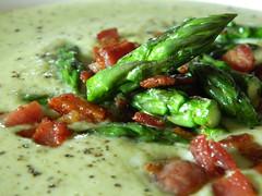 Asparagus soup-close up