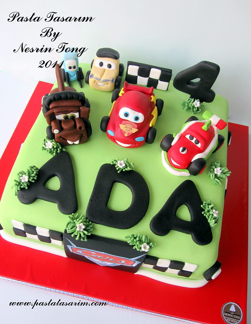 CARS - MCQUEEN CAKE - ADA BIRTHDAY