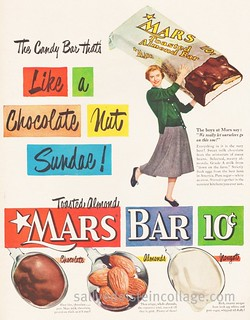 candy Advertisement Mars Bar 1950