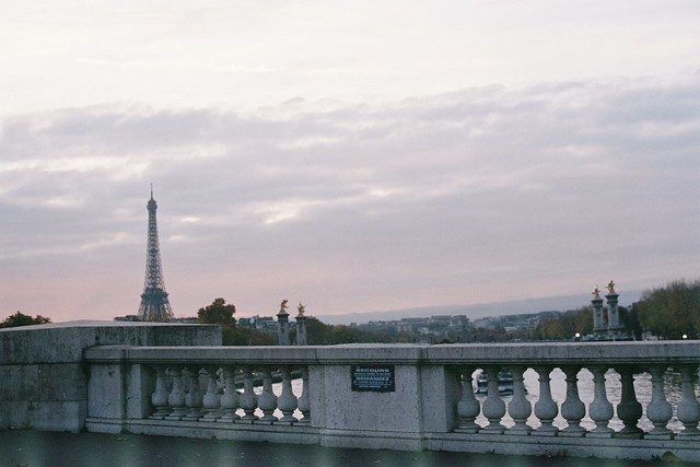 From the bridge, I see Paris...
