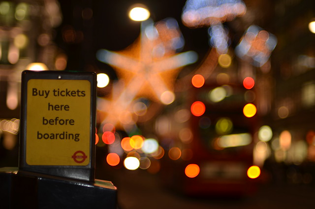 London transport bokeh