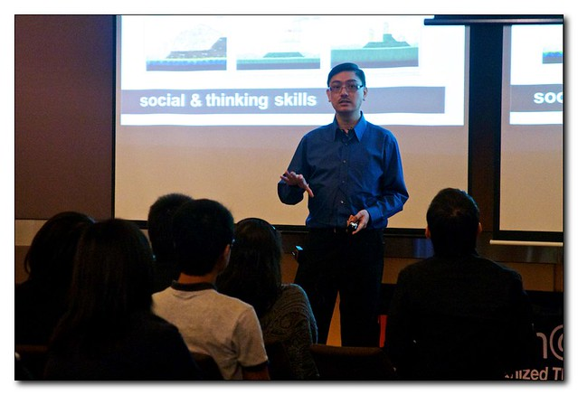 Dr Ashley Tan sharing Angry Birds