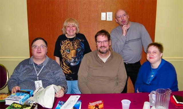 Story Openings Panel - Michael Flynn, Marilyn Brahen, Ty Drago, Tim Burke, and Victoria Janssen 01