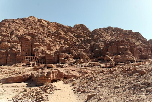 Monuments and tombs carved cliffside