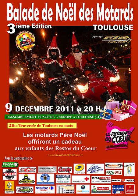 Balade de Noël des Motards 2011 à Toulouse