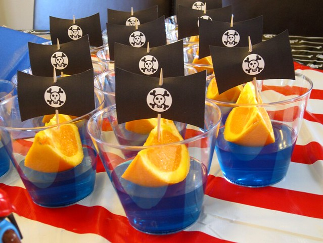 Pirate Birthday Party Jello Orange Slice Ships - web