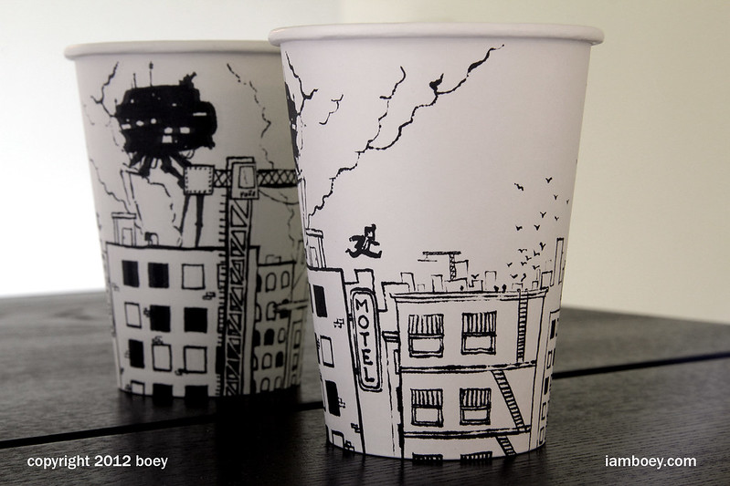 Black Marker Coffee Cup Artwork by Cheeming Boey «TwistedSifter