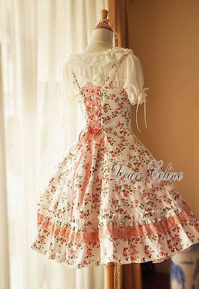Dear_Celine_Summer_A_Line_Pinkish_Rose_Cotton_Lolita_Dress_6
