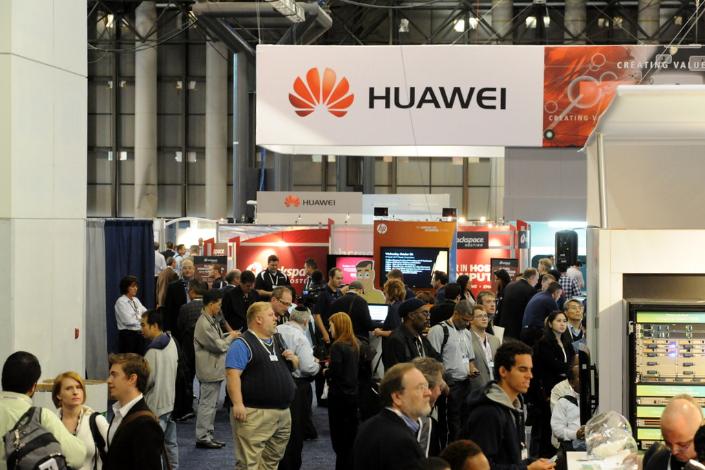 Expo Floor and Huawei Booth