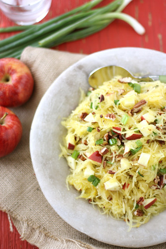 Spaghetti Squash with Apples & Toasted Pecans Recipe