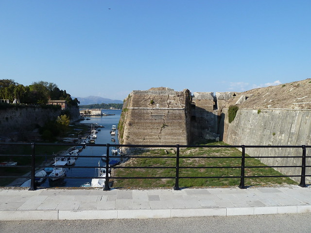 Corfu Greece old fortress