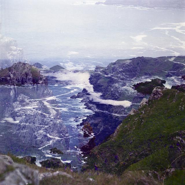 Clifftop double-exposure
