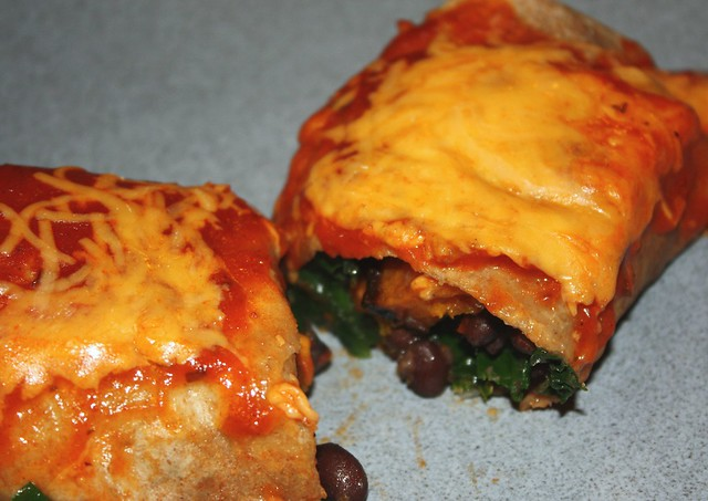 Butternut Squash, Black Bean & Spinach Burrito