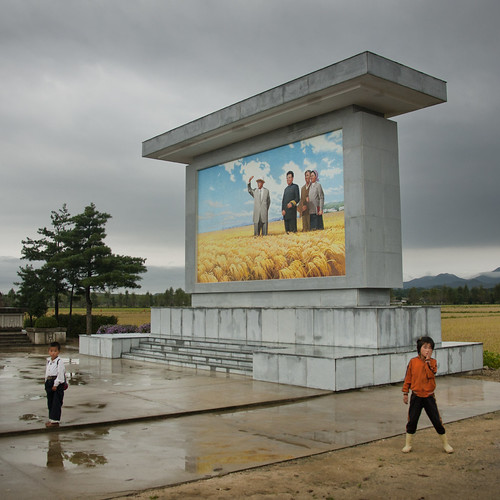 Hamhung farm entrance - North Korea