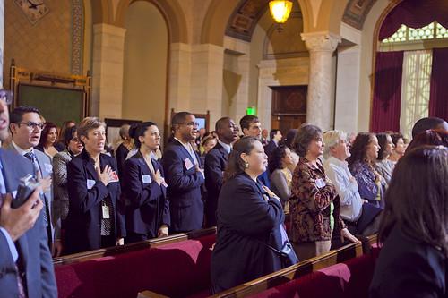 Advocates in Los Angeles City Hall