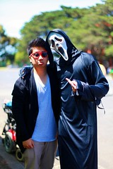 chilling with scream