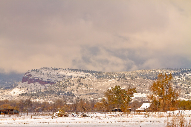 Low Winter Storm Clouds Colorado Rocky Mountain Foothills 6