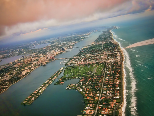 Bye-Bye West Palm Beach Aerial Sky Photo from Plane