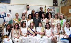Washburn District High School students dress up as gods and goddesses for Gods/Goddesses Day at the school.