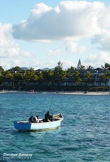 Fishing boat in Mauritius