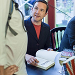 Alan Bissett book signing | Alan Bissett signing his book
