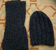 hat and scarf, finished