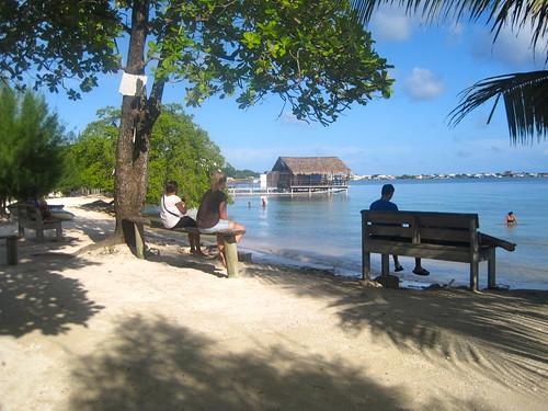 public beach on utila honduras