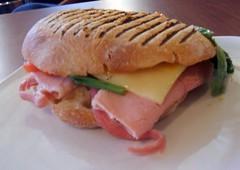 Ham and cheese panino