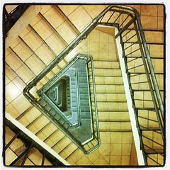 Going down? (Azrieli Tower's staircases)