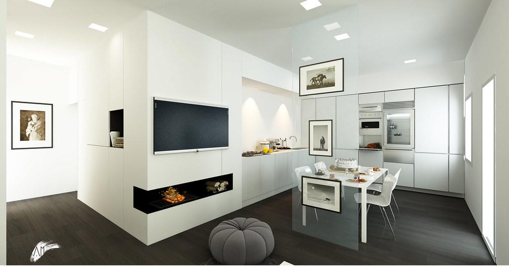 Progetto per un appartamento a treviso designbylight for Progetto appartamento moderno