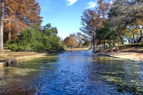 trees fall nature water birds canon river outside texas tx ducks canonxt hdr newbraunfels landapark newbraunfelstx canon60d