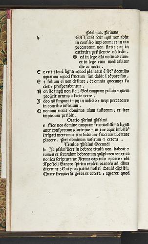 Variant reading in Psalterium