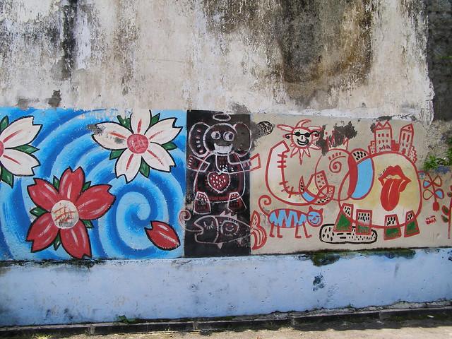 在日惹街頭到處都能看到這類型的塗鴉藝術