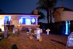 Halloween display in my front yard 2011