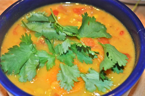 red lentil carrot coconut soup