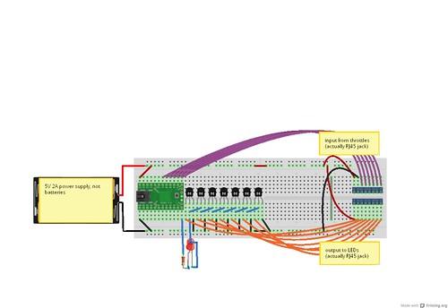 Building a train control board lego trains