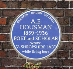 Photo of A. E. Housman blue plaque