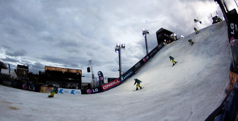 Composite snowboarder
