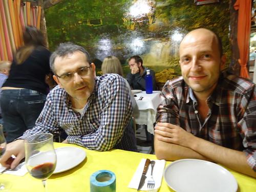 Zaragoza   Mesón Oliete   Miguel y David