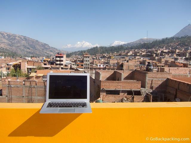 Working from Huaraz, Peru
