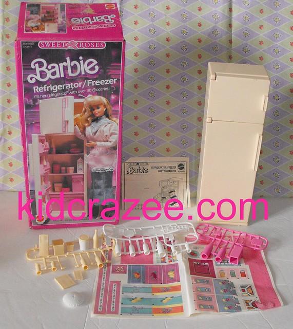 ~SOLD~Vintage Barbie Furniture Sweet Roses Refrigerator