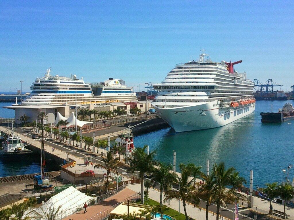 Los Cruceros Carnival Magic y AIDASol en Las Palmas de Gran Canaria