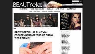 Brow Specialist Elke Von Freudenberg Offers Up Brow Tips For Men   Beauty Etc.