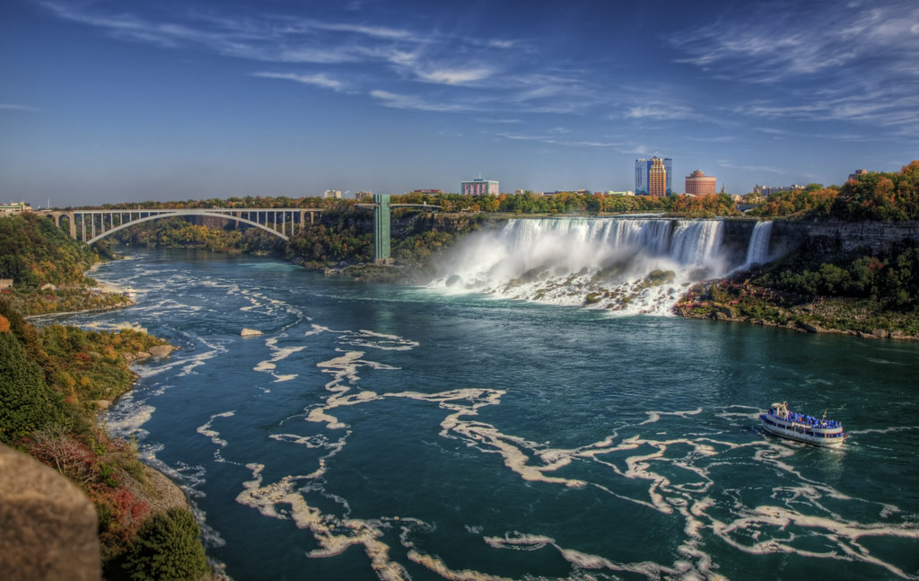 Niagara Falls and teh Rainbow Bridge