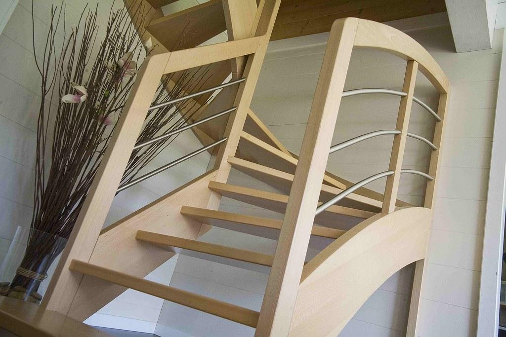 Escalier intérieur maison bois | Chauvin constructions | Flickr