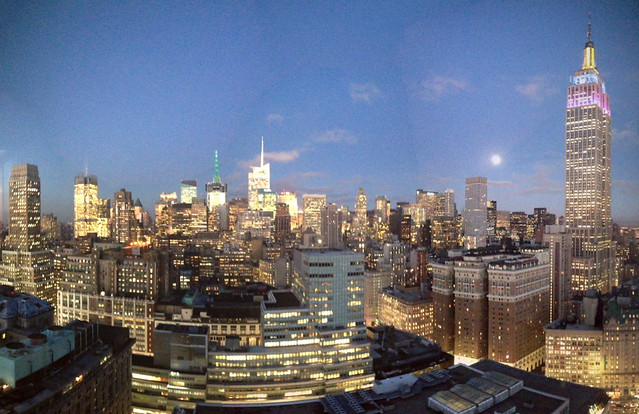 Manhattan in the evening