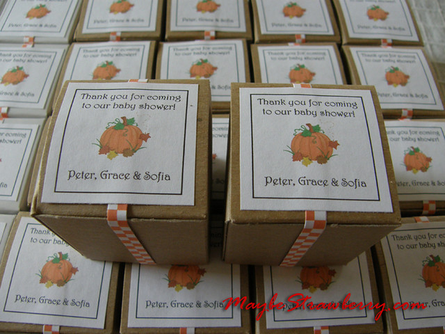 fall baby shower favors flickr photo sharing